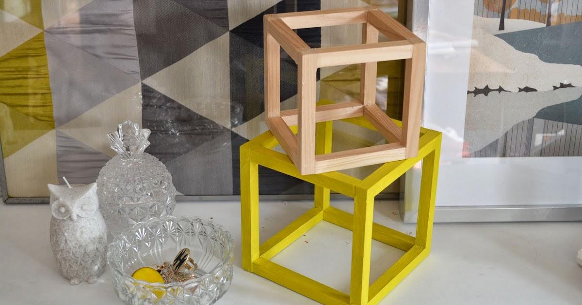 Objet d co des cubes en bois couleur mimosa lily 39 s for Objet deco couleur