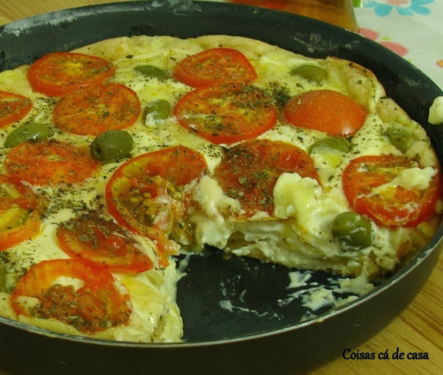 Torta pizza de liquidificador
