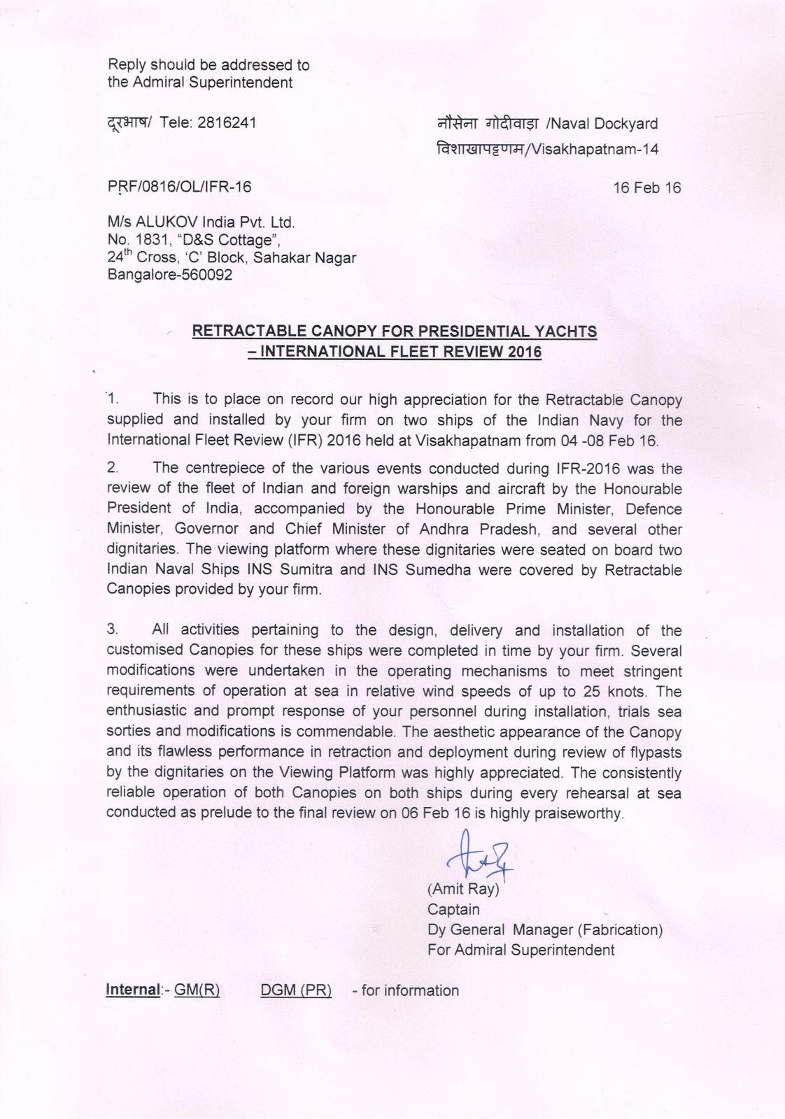 Indian Navy Appreciation Letter Patio Enclosures Blog
