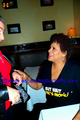 Actress Kim Coles signs autograph at Oh Wait But There's More one Woman show post show meet and greet at West Bank Cafe Laurie Beechman Theatre in New York City