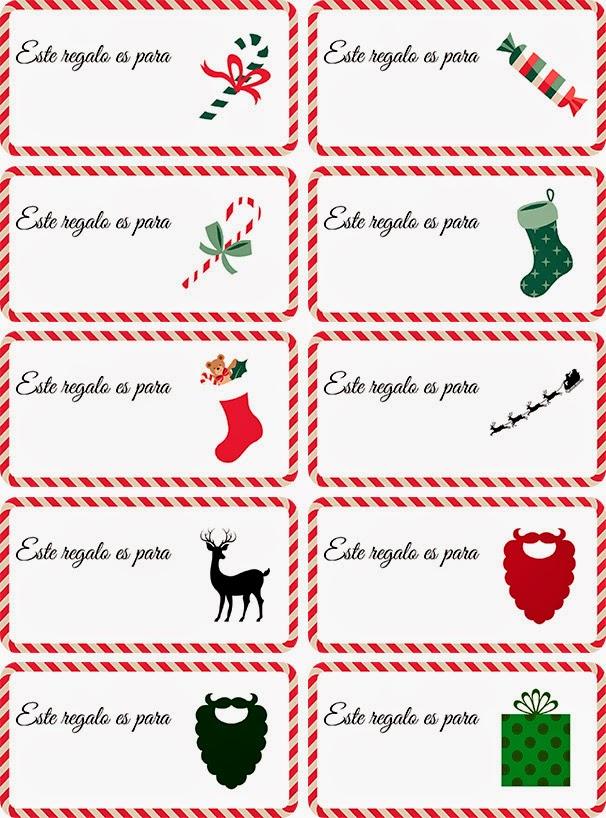 etiquetas, etiquetas navideñas, regalos