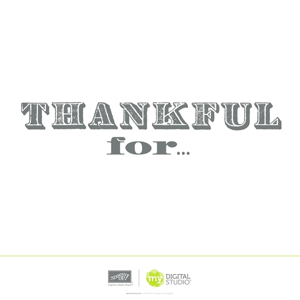 Stampin' Up! Thankful Digital Stamp Brush