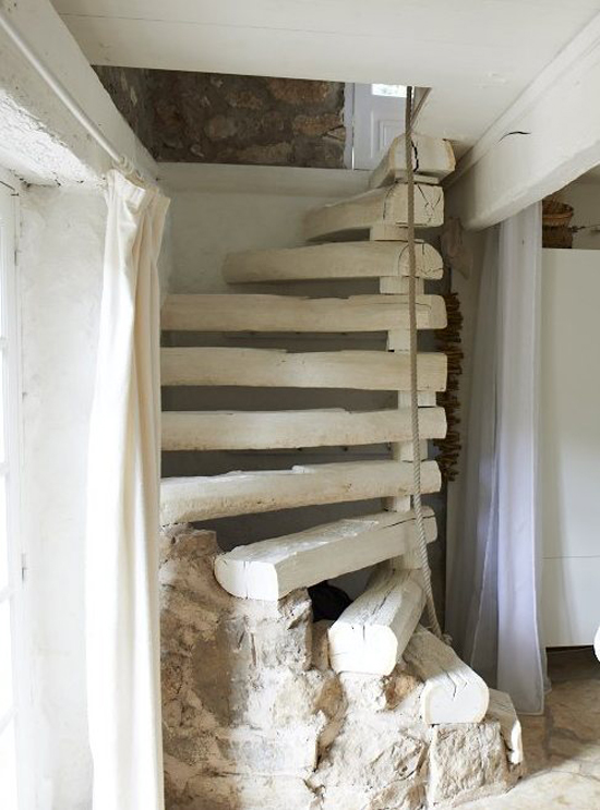 A renovated barn house for a family of four in the French countryside via IKEA Family Live. #country #home #stairs