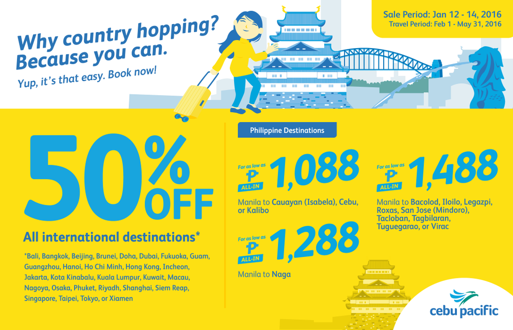 Coupons for international flight tickets