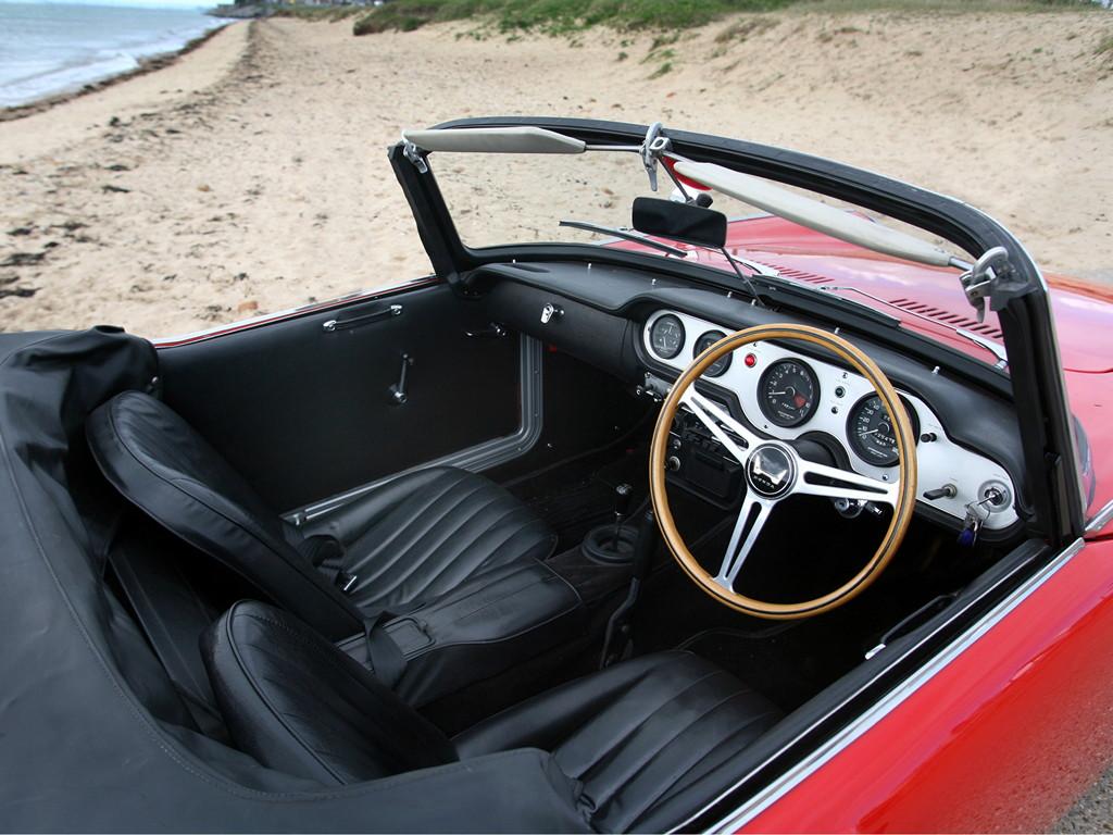 Honda S600, sports, stary japoński samochód, klasyk, oldschool, roadster, 日本車, スポーツカー, クラシックカー, wnętrze, interior