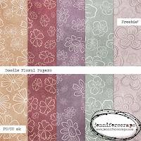 http://www.jenniferscraps.com/2014/11/20/doodle-floral-papers-freebie/