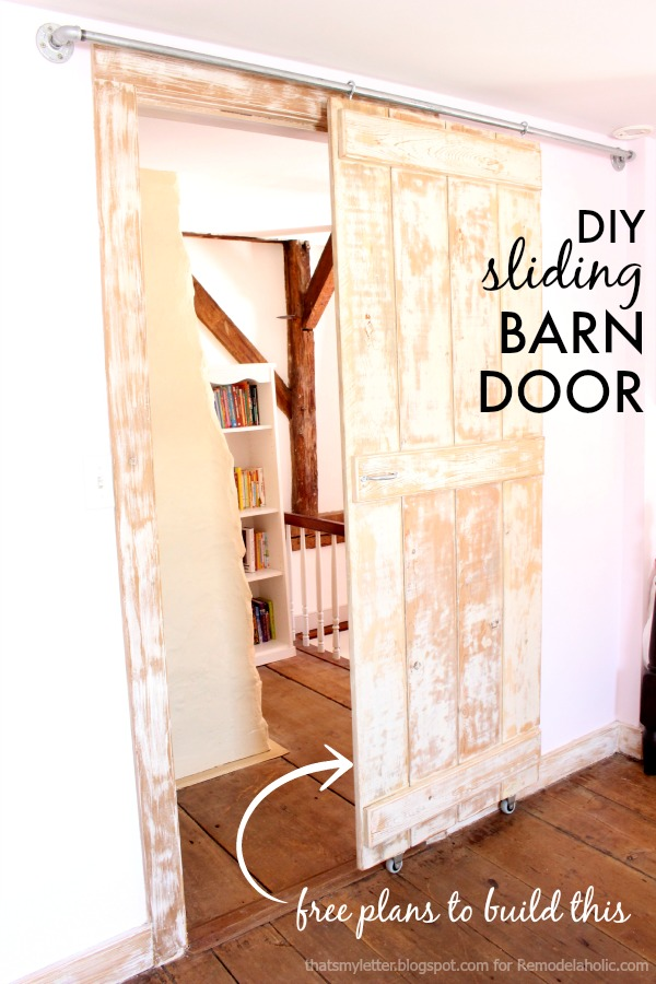 diy sliding barn door free plans