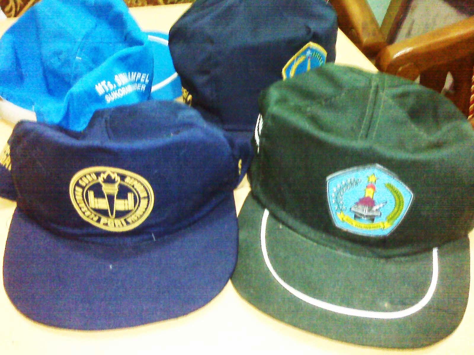 Grosir Topi Seragam Sekolah Murah Berlogo Bordir Sablon