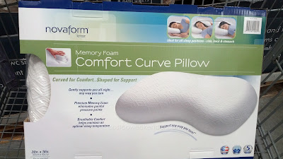 Sleep comfortably with the Novaform Memory Foam Comfort Curve Bed Pillow