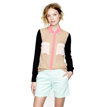 Collection Silk Colorblock Blouse