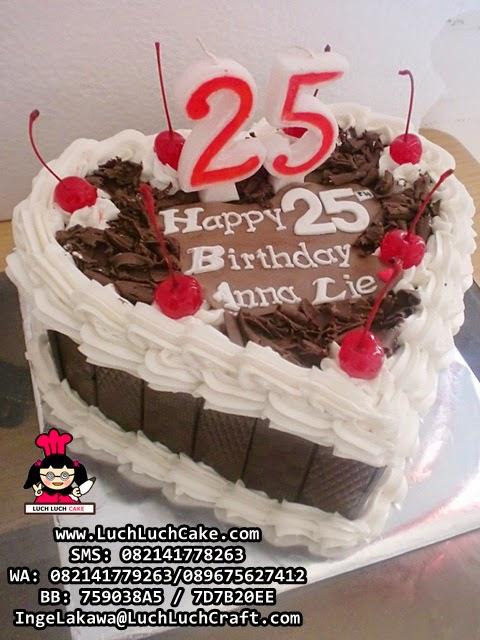 Kue Tart Blackforest Hati Daerah Surabaya - Sidoarjo