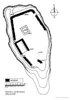 """Planta del Castell de Rosanes. """"Els Castells Catalans T-1 El Baix Llobregat"""". Pere català i Roca. Editorial Dalmau. 1990"""