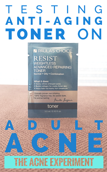 Testing Anti-Aging Toner on Adult Acne :: The Acne Experiment