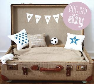 DIY Hundebett im Koffer
