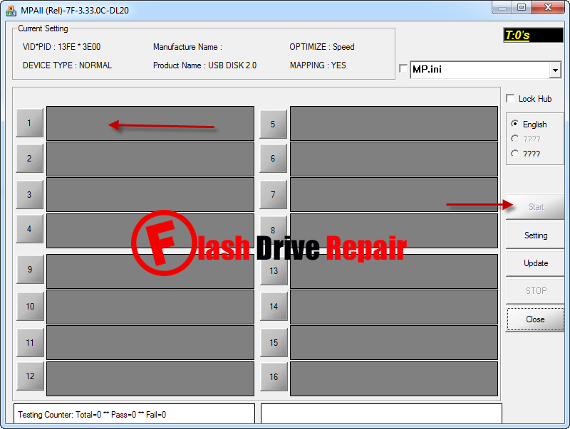 Phison MPALL v3.33.0C firmware tool