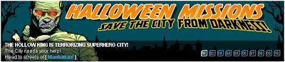 Halloween Missions at Superhero City banner