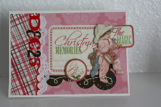 This holiday card was showcased at Jingle Belles