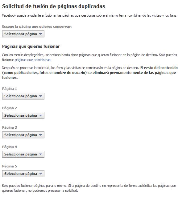 texto fusion paginas  facebook