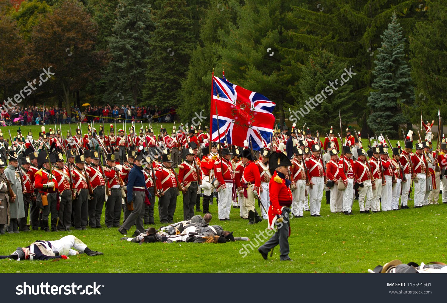 RELIVING HISTORIC SKIRMISH ON CANADIAN SOIL.