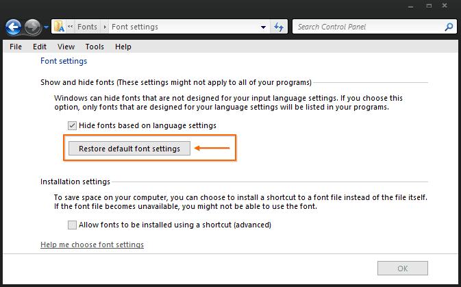 Cara Mengatasi Huruf Tebal Dan Miring di Windows 7 2