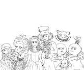 #9 Alice in Wonderland Coloring Page