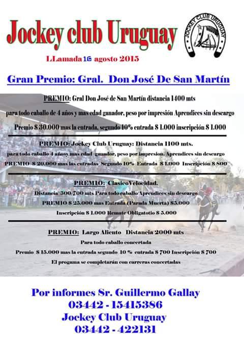 C. del Uruguay - llamado 17 de agosto