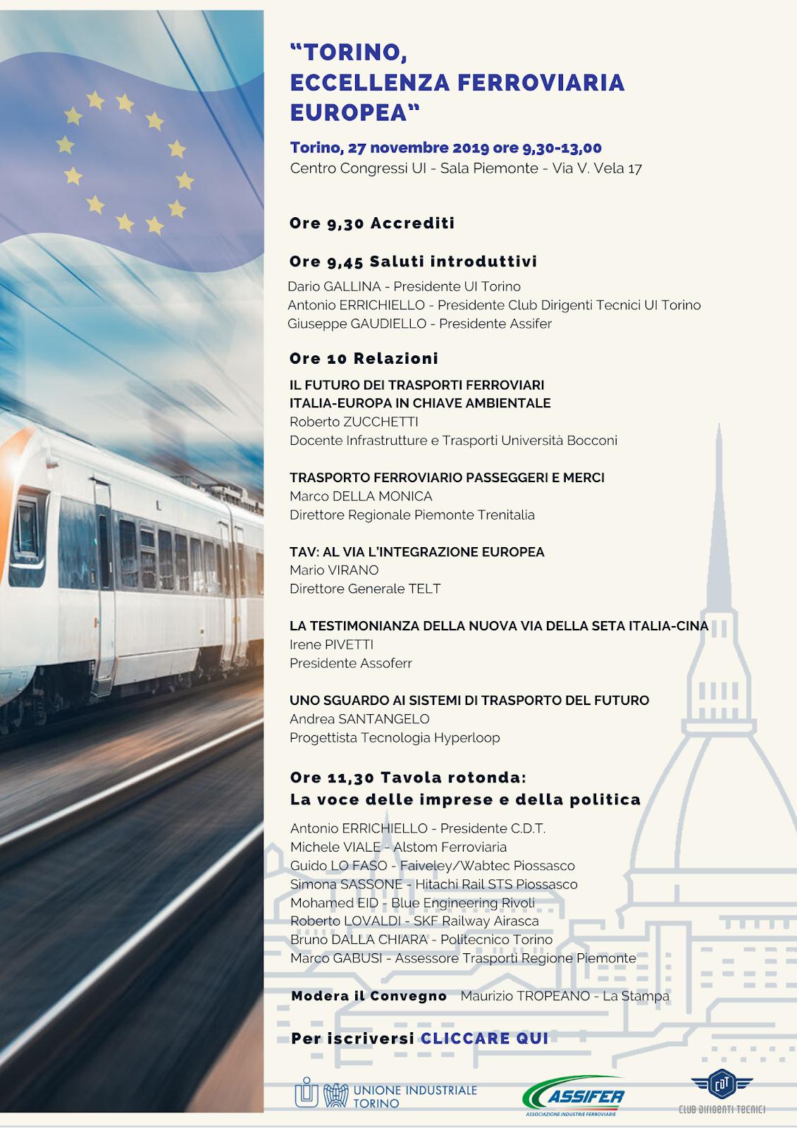 Torino eccellenza ferroviaria