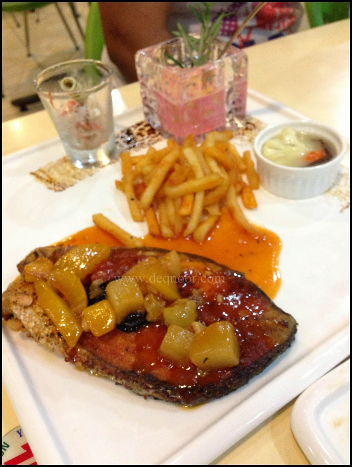 Salmon with Ratatouille Sauce RM20.00