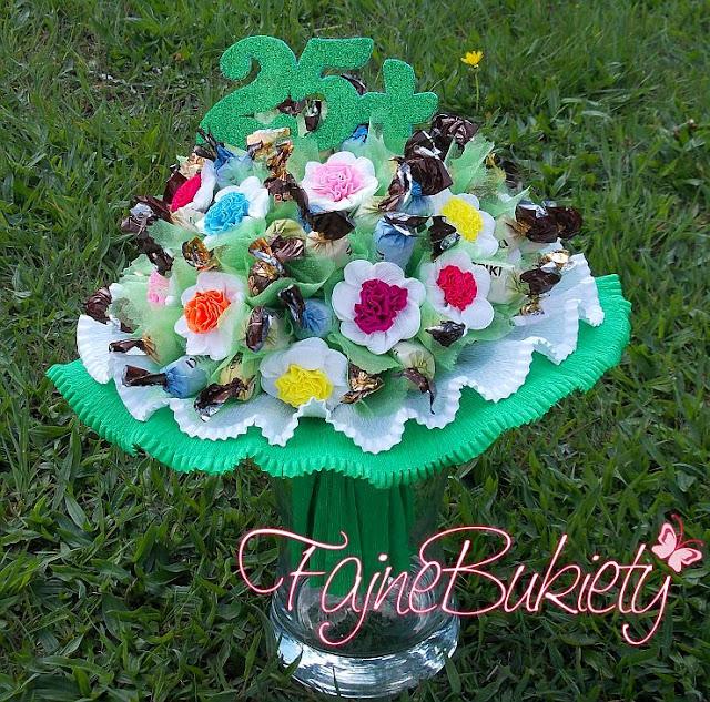 Bukiet z cukierków na 50-te urodziny