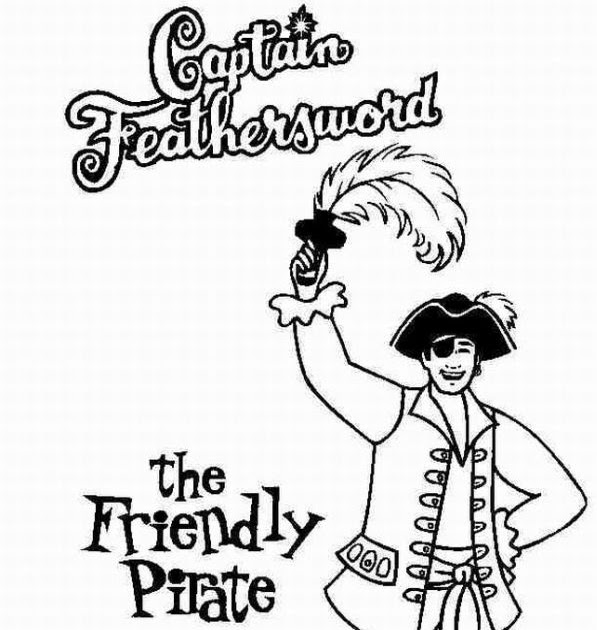 Free Kids Coloring Captain Feathersword
