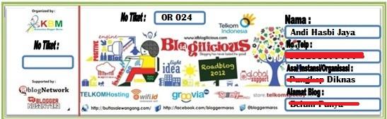 Tiket blogilicious Maros