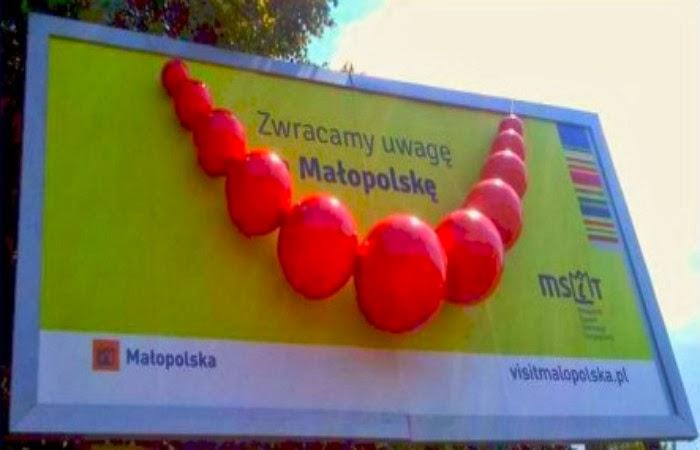 Obraz: Billboard Zwracamy uwagę na Małopolskę