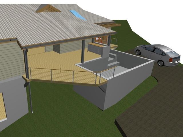 Notre maison marie galante nouvelle piscine for Prix piscine maconnee