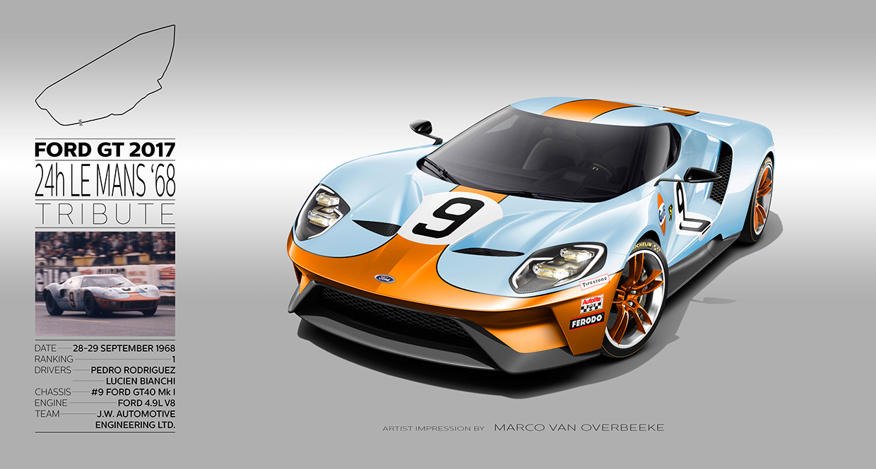 Artist Marco Van Overbeeke Has Taken On Quite A Project Rendering The New  Ford Gt In All Of The Classic Le Mans Liveries From