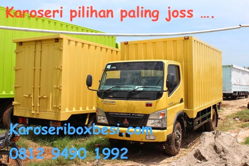 karoseri box besi Mitsubishi Canter, angkutan general kargo