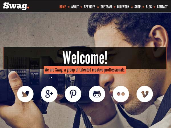 Swag – One Page Parallax WordPress Theme