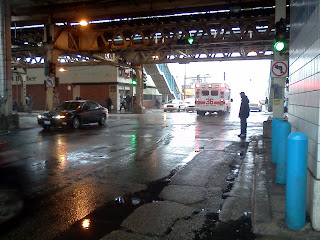 An Ambulance Rushing Through A Chicago Hood