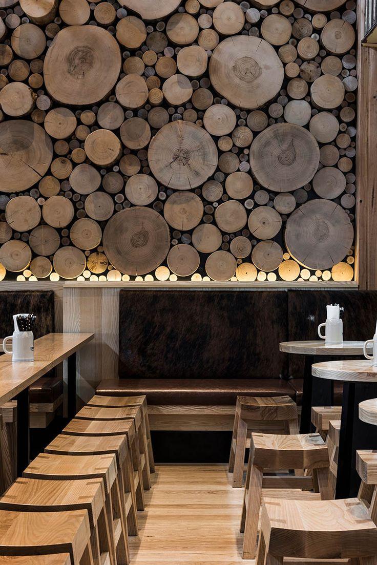 Revestimento de parede madeira reuso