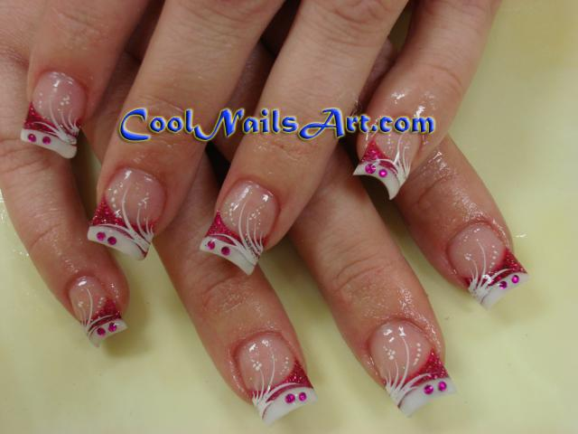 The Cool Rhinestone nail designs for short nails Pics