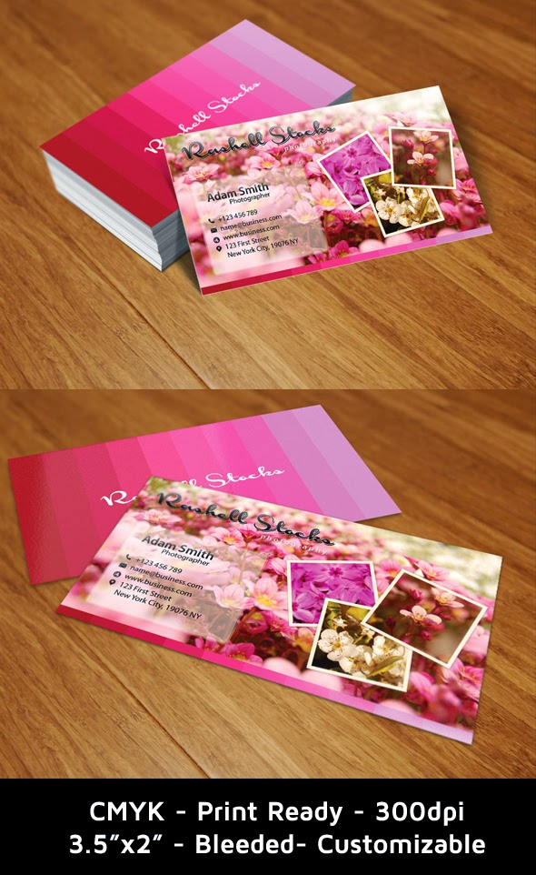 Photography Business Card Template PSD