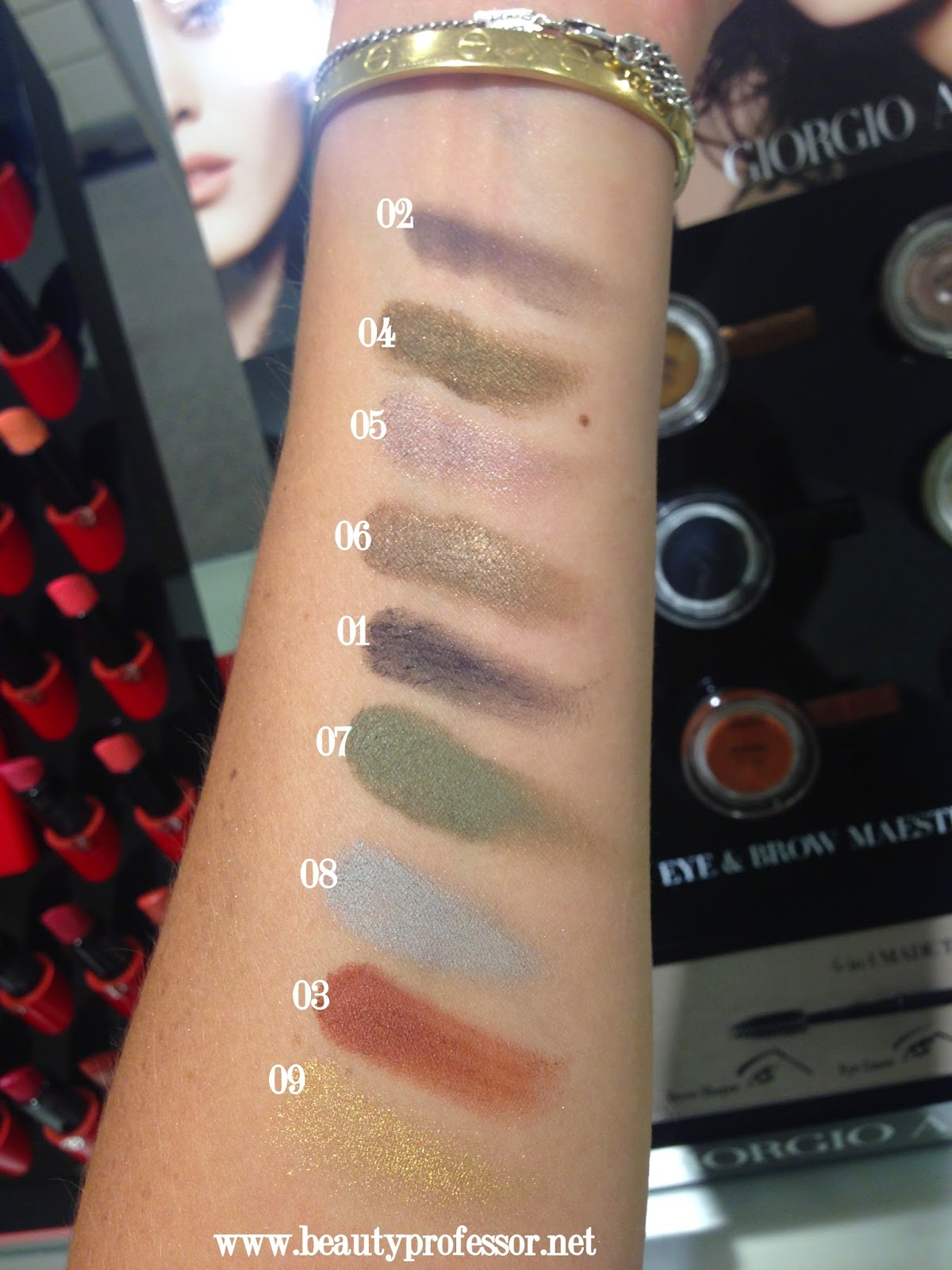 armani eye and brow maestro swatches