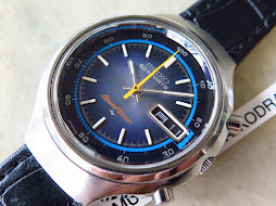 SEIKO 5 SPORTS SPEEDTIMER FLYBACK CHRONOGRAPH BLUE SUNBURST DIAL - AUTOMATIC 7015 8000