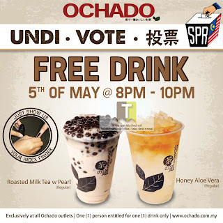Ochado FREE Drink Giveaway General Election Malaysia 2013