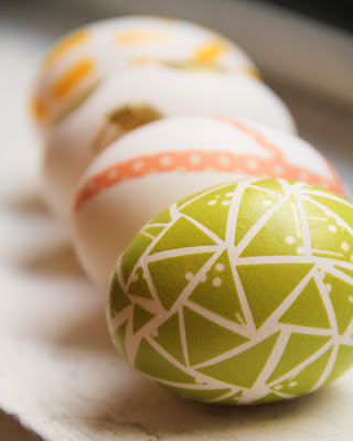 Easter and Spring Craft ideas: how to decorate eggs with washi tape