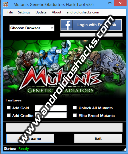 Mutants Genetic Gladiators Hack Tool v3.6 (Updated January 2014)