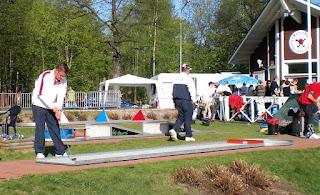 In international minigolf action in Tampere, Finland