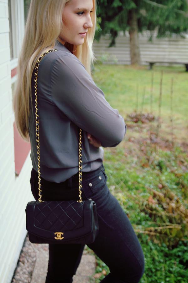 Mistä ysl laukku : Vintage chanel single flap bag