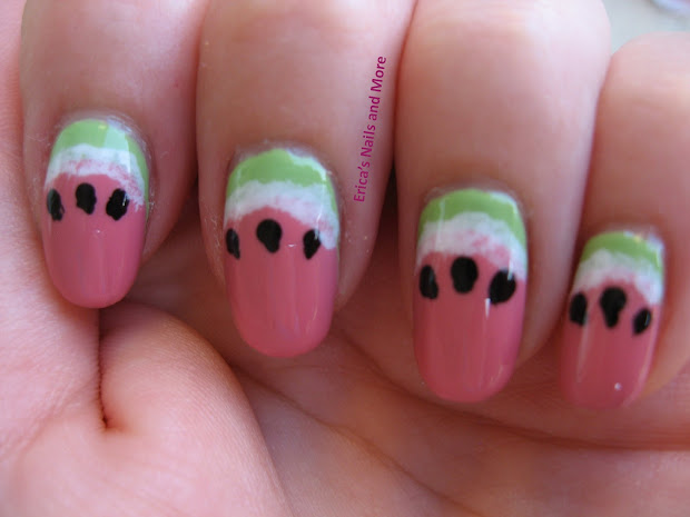 erica's nails and notd watermelon