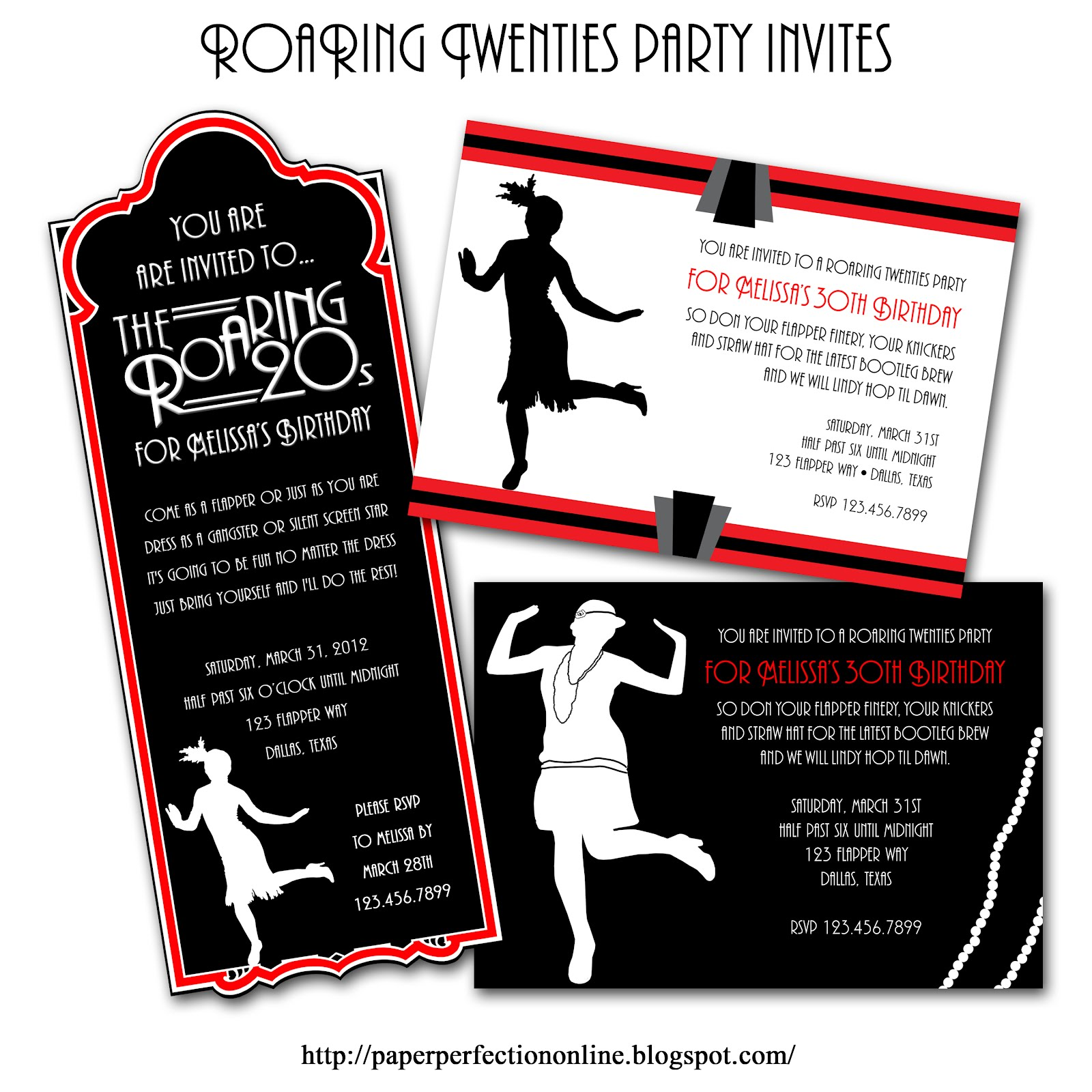 Paper Perfection: Roaring Twenties (1920s) Party Invitations and ...