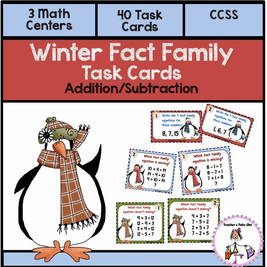 Winter Fact Family Task Cards